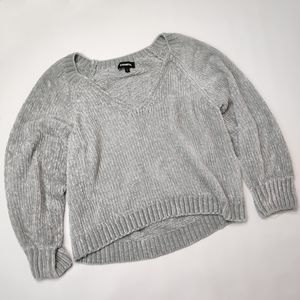 Express Cropped Cozy Soft Knit Sweater Size Small